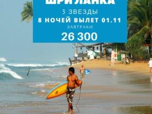 Горящий тур на Шри Ланку в отель 3 звезды